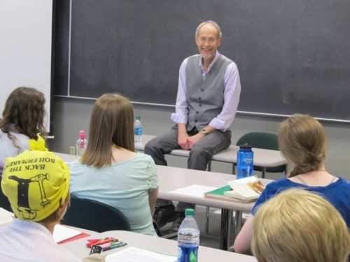 Lee Martin, speaking at Otterbein University on April 9, 2013